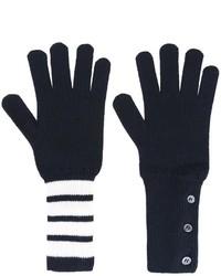 dunkelblaue Handschuhe von Thom Browne