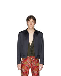 dunkelblaue Harrington-Jacke von Dries Van Noten