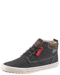 dunkelblaue hohe Sneakers aus Leder von S.OLIVER RED LABEL
