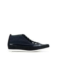 dunkelblaue hohe Sneakers aus Segeltuch von Högl