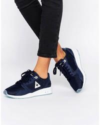 dunkelblaue hohe Sneakers aus Segeltuch von Le Coq Sportif