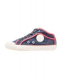 dunkelblaue hohe Sneakers aus Segeltuch von Pepe Jeans