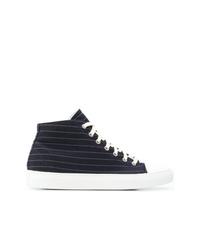 dunkelblaue hohe Sneakers aus Segeltuch von Sofie D'hoore