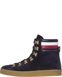 dunkelblaue hohe Sneakers aus Wildleder von Tommy Hilfiger