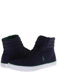 dunkelblaue hohe Sneakers