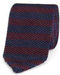 dunkelblaue horizontal gestreifte Krawatte