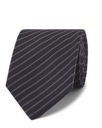 dunkelblaue horizontal gestreifte Krawatte von Berluti