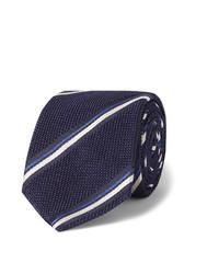 dunkelblaue horizontal gestreifte Krawatte von Canali