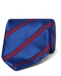 dunkelblaue horizontal gestreifte Krawatte von Charvet