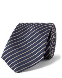 dunkelblaue horizontal gestreifte Krawatte von Giorgio Armani