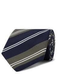 dunkelblaue horizontal gestreifte Krawatte von Kingsman