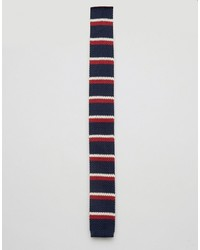 dunkelblaue horizontal gestreifte Krawatte von Original Penguin