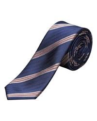 dunkelblaue horizontal gestreifte Krawatte von Selected Homme