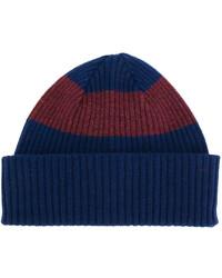 dunkelblaue horizontal gestreifte Mütze von Paul Smith
