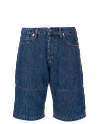 dunkelblaue horizontal gestreifte Shorts von Marni