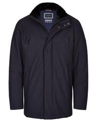 dunkelblaue Jacke mit einer Kentkragen und Knöpfen von Daniel Hechter