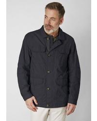 dunkelblaue Jacke mit einer Kentkragen und Knöpfen von S4 JACKETS
