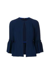 dunkelblaue Jacke mit einer offenen Front von Steffen Schraut