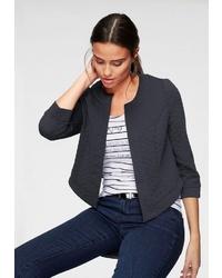 dunkelblaue Jacke mit einer offenen Front von Vero Moda