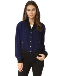 dunkelblaue Jacke von Rebecca Minkoff