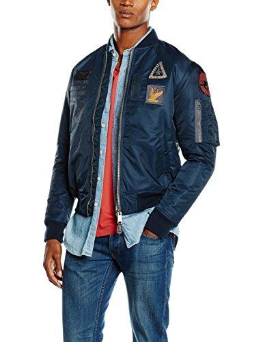 dunkelblaue Jacke von Schott NYC
