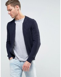 dunkelblaue Jeans Bomberjacke