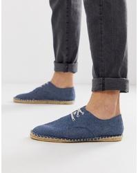 dunkelblaue Jeans Espadrilles von ASOS DESIGN