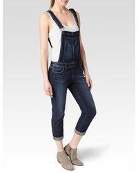 dunkelblaue Jeans Latzhose