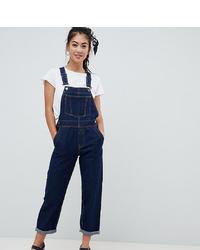 dunkelblaue Jeans Latzhose von Asos Petite