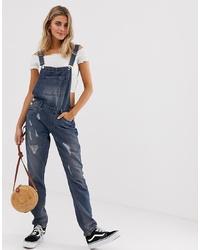 dunkelblaue Jeans Latzhose von Jdy