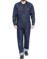 dunkelblaue Jeans Latzhose von KINGKEROSIN