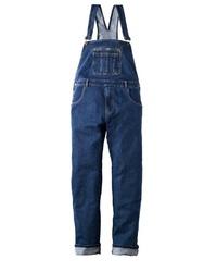dunkelblaue Jeans Latzhose von MEN PLUS BY HAPPY SIZE