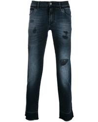 dunkelblaue Jeans mit Destroyed-Effekten von Dolce & Gabbana