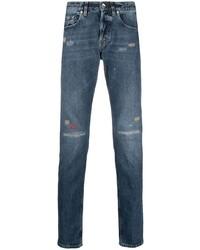 dunkelblaue Jeans mit Destroyed-Effekten von Eleventy