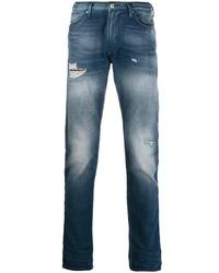 dunkelblaue Jeans mit Destroyed-Effekten von Emporio Armani
