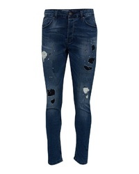 dunkelblaue Jeans mit Destroyed-Effekten von ONLY & SONS