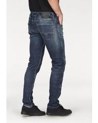 dunkelblaue Jeans mit Destroyed-Effekten von Replay