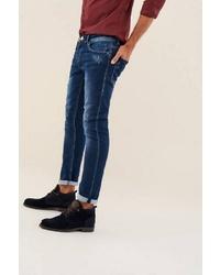 dunkelblaue Jeans mit Destroyed-Effekten von SALSA