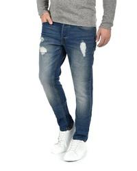 dunkelblaue Jeans mit Destroyed-Effekten von Solid