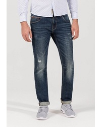 dunkelblaue Jeans mit Destroyed-Effekten von Timezone