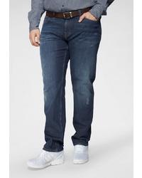 dunkelblaue Jeans mit Destroyed-Effekten von Tommy Hilfiger