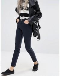 Dunkelblaue Jeans von Weekday