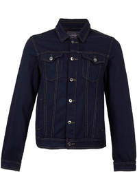 dunkelblaue Jeansjacke