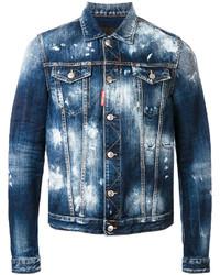 dunkelblaue Jeansjacke von DSQUARED2