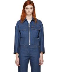 dunkelblaue Jeansjacke von Emilio Pucci