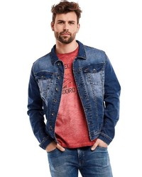 dunkelblaue Jeansjacke von ENGBERS