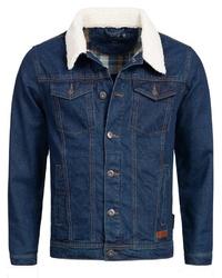 dunkelblaue Jeansjacke von INDICODE