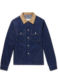 dunkelblaue Jeansjacke von Maison Margiela