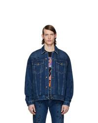 dunkelblaue Jeansjacke von McQ Alexander McQueen