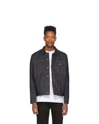 dunkelblaue Jeansjacke von Nudie Jeans